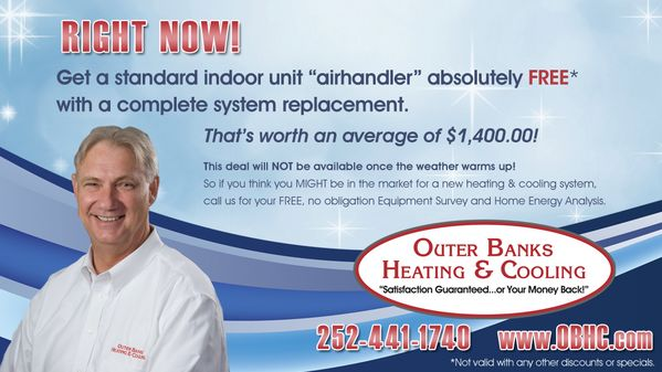 Outer Banks Heating & Cooling Magazine & Newspaper Ads