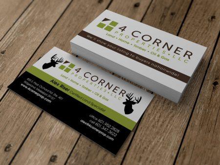 4 Corner Properties Business Card