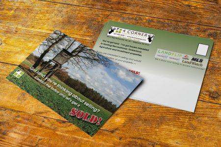 4 Corner Properties Postcard