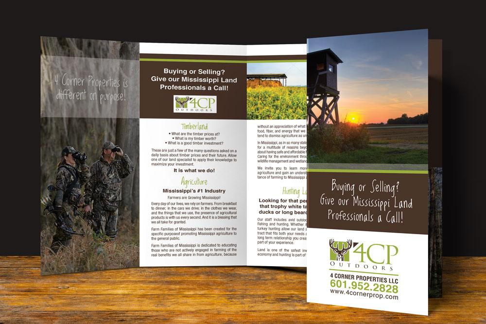 4 Corner Properties Trifold Brochures
