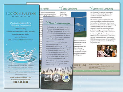 Eco Consulting Trifold Brochure
