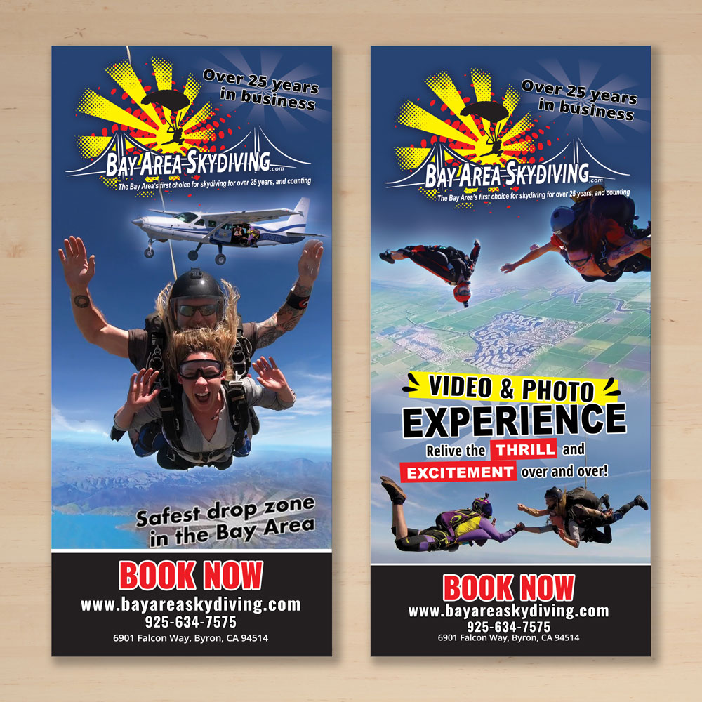 Bay Area Skydiving Rack Card