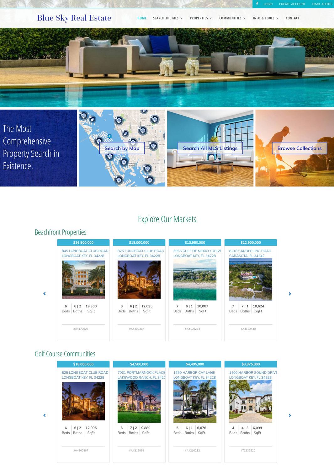 Blue Sky Real Estate MLS Website