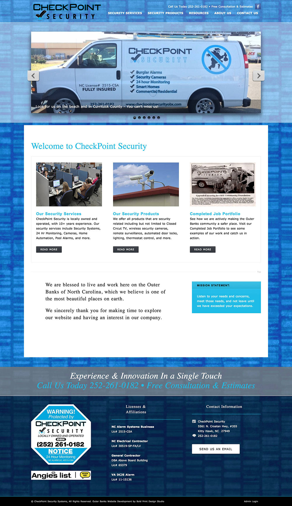 CheckPoint Security Homepage