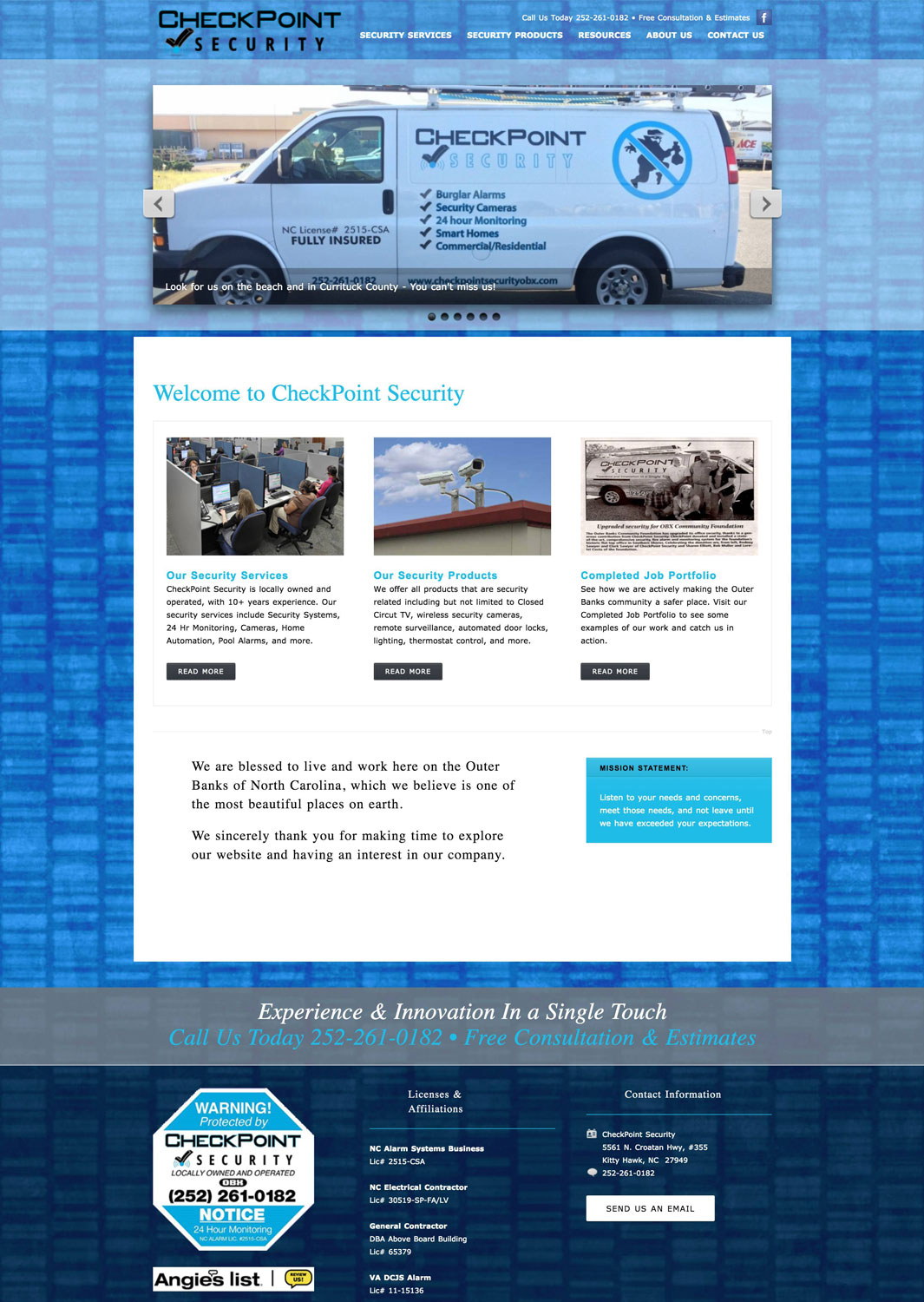 CheckPoint Security Website