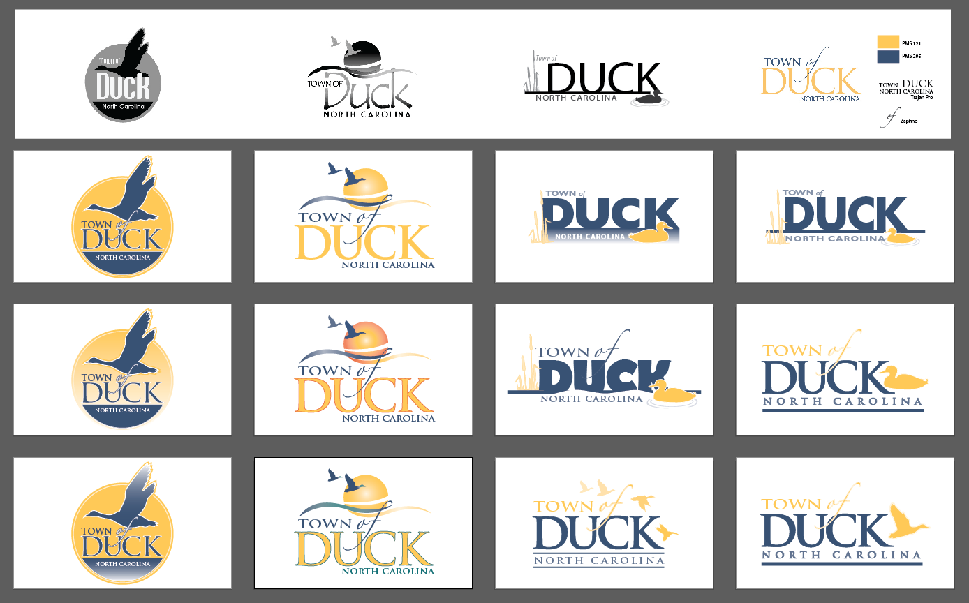 Our typical logo process involves many variations of many ideas.