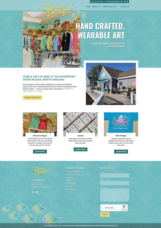 Donna Designs Website
