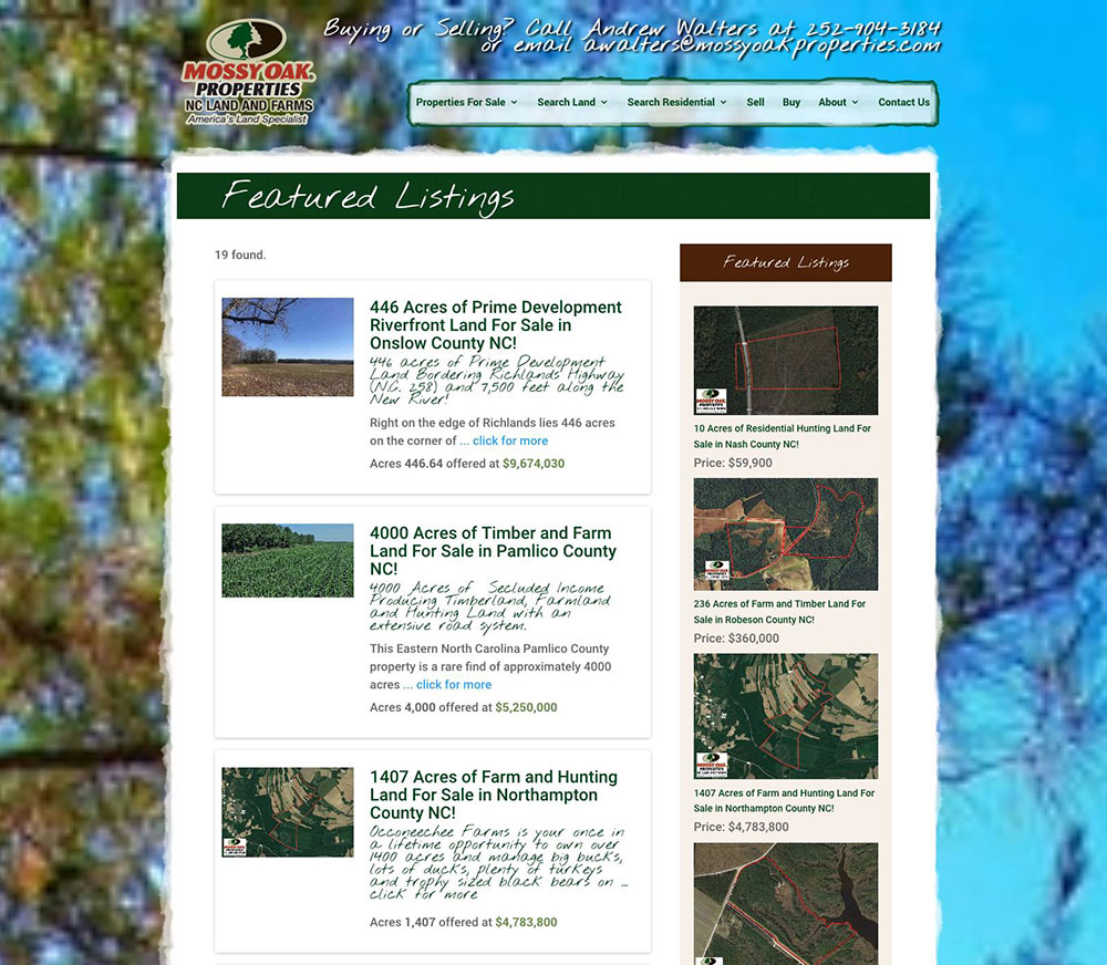 Mossy Oak Properties NC Land & Farms Andrew Walters Real