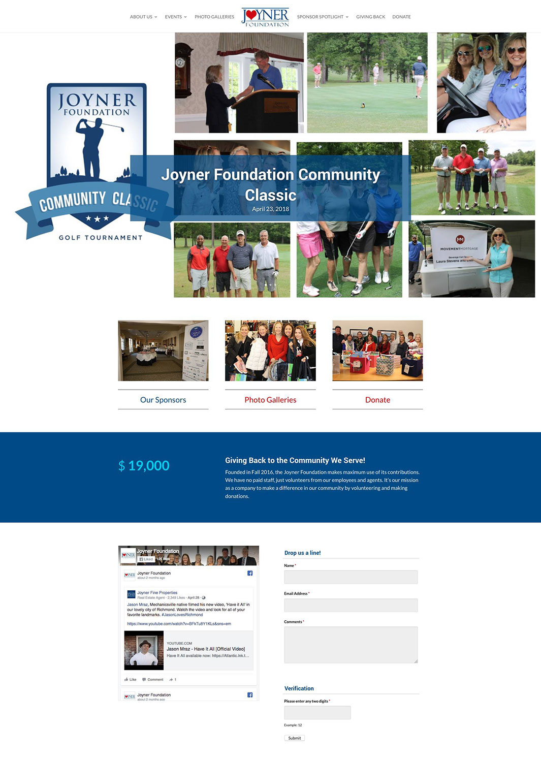 Joyner Foundation Website