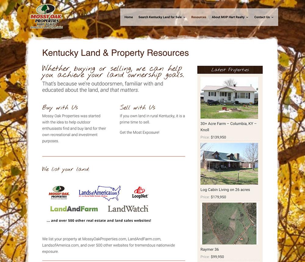 Mossy Oak Properties Hart Realty Real Estate Website | Bold