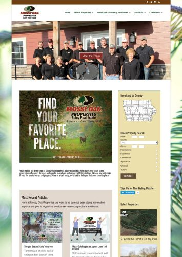 Mossy Oak Properties Boley Real Estate Website