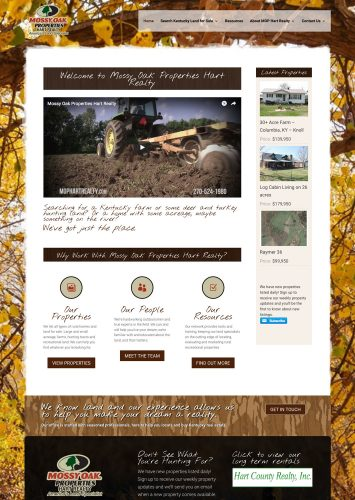 Mossy Oak Properties Hart Realty Real Estate Website