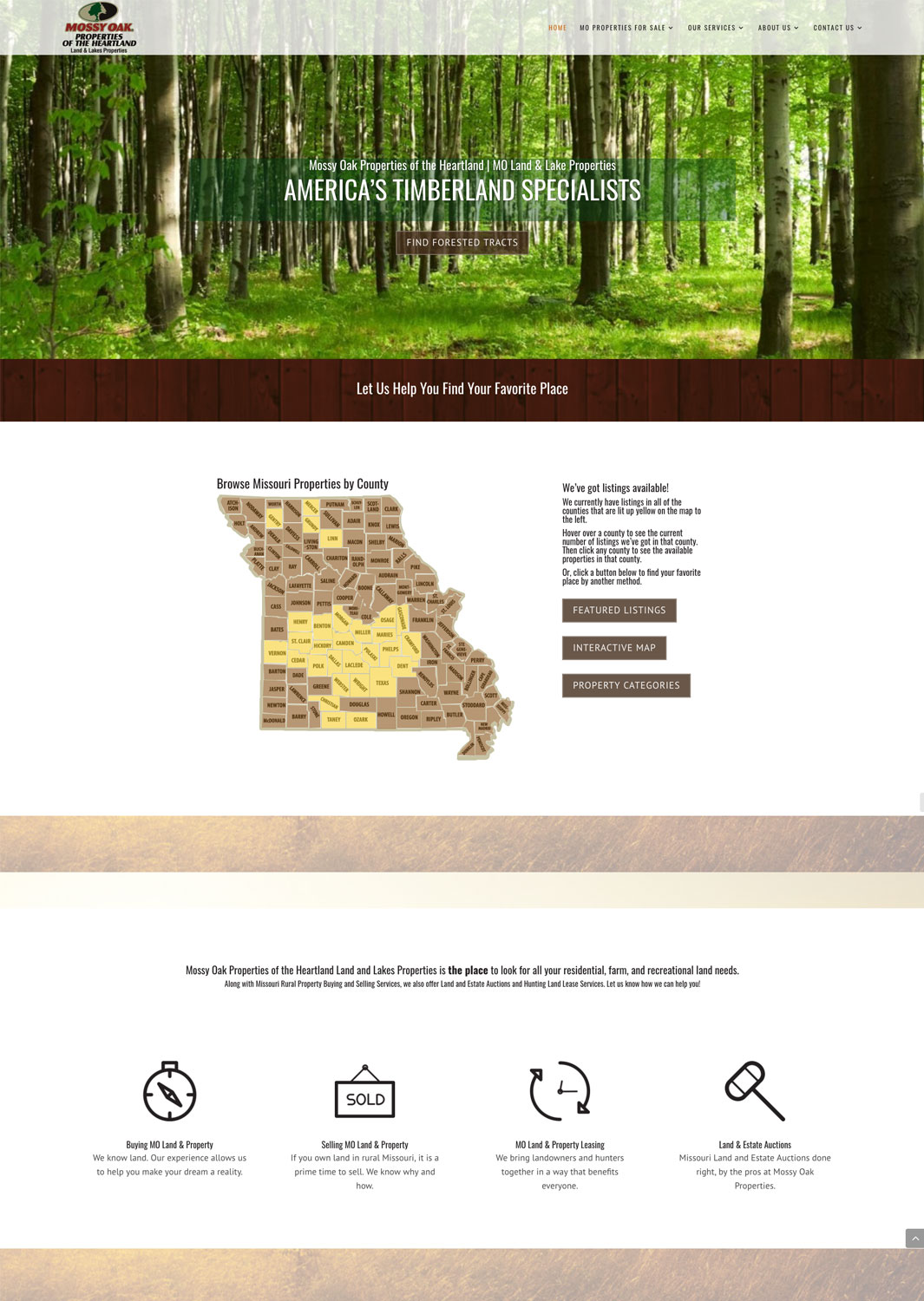 Mossy Oak Properties Land and Lakes Real Estate Website