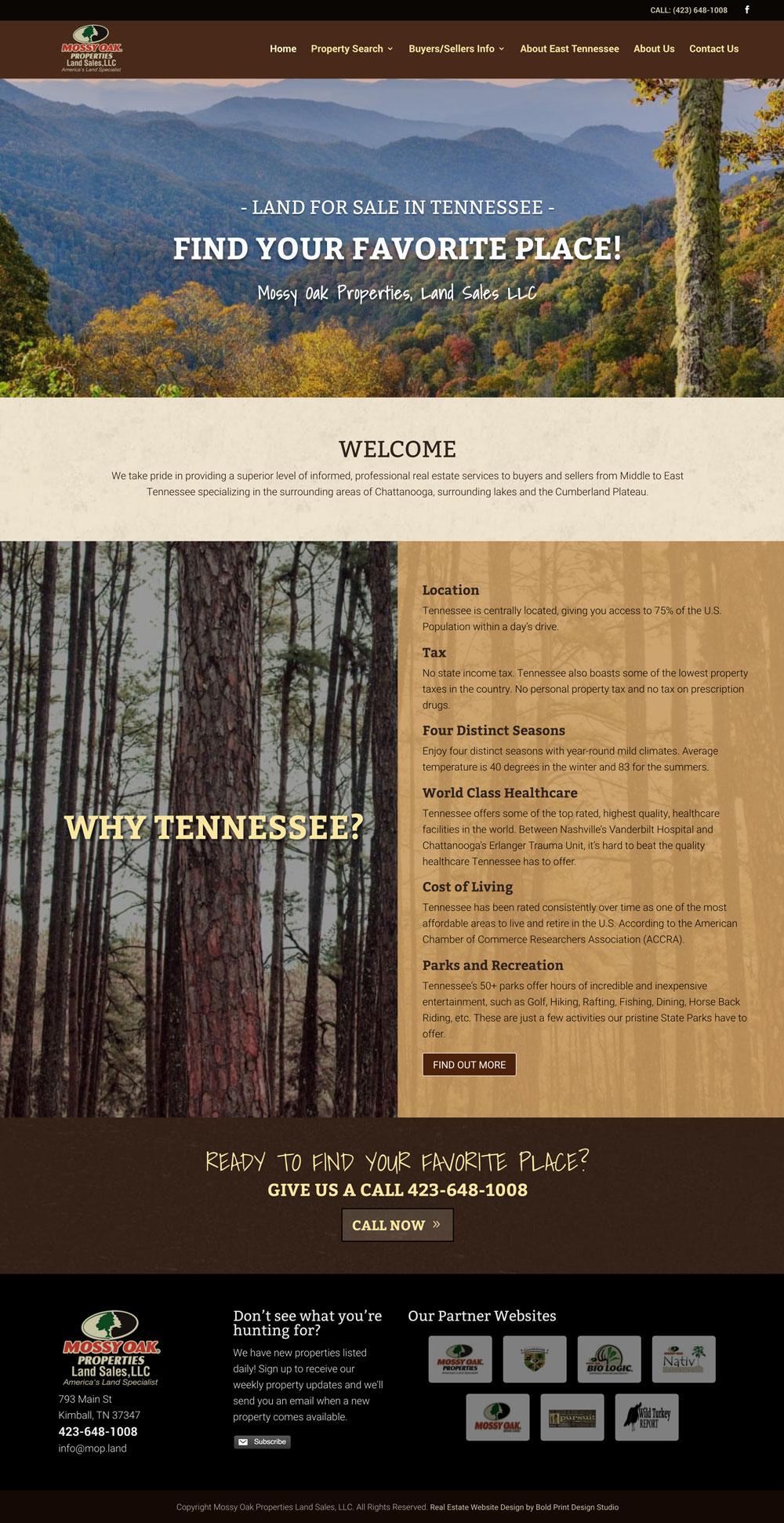 Mossy Oak Properties Land Sales Website