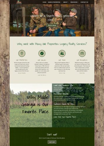 Mossy Oak Properties Legacy Realty Services MLS Real Estate Website