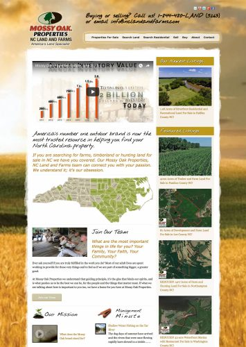 Mossy Oak Properties NC Land and Farms Real Estate Website