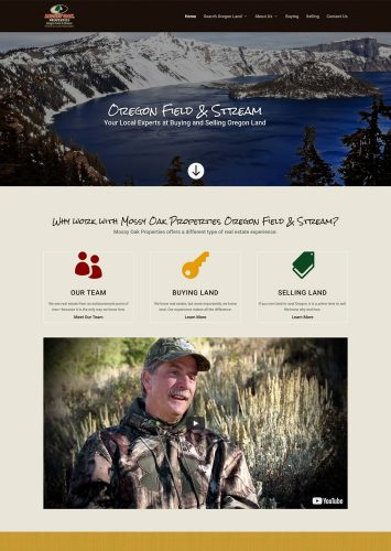 Mossy Oak Properties Oregon Field & Stream Real Estate Website