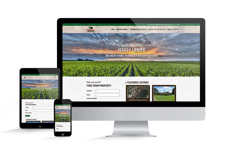 MOP NC Land Agent Website for Marty Lanier