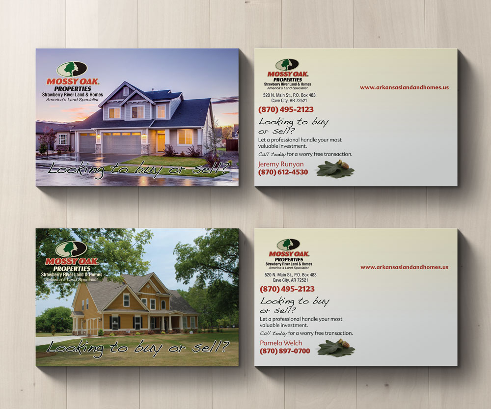 Mossy Oak Properties Strawberry Land & Homes Residential Postcard Mailing Campaign