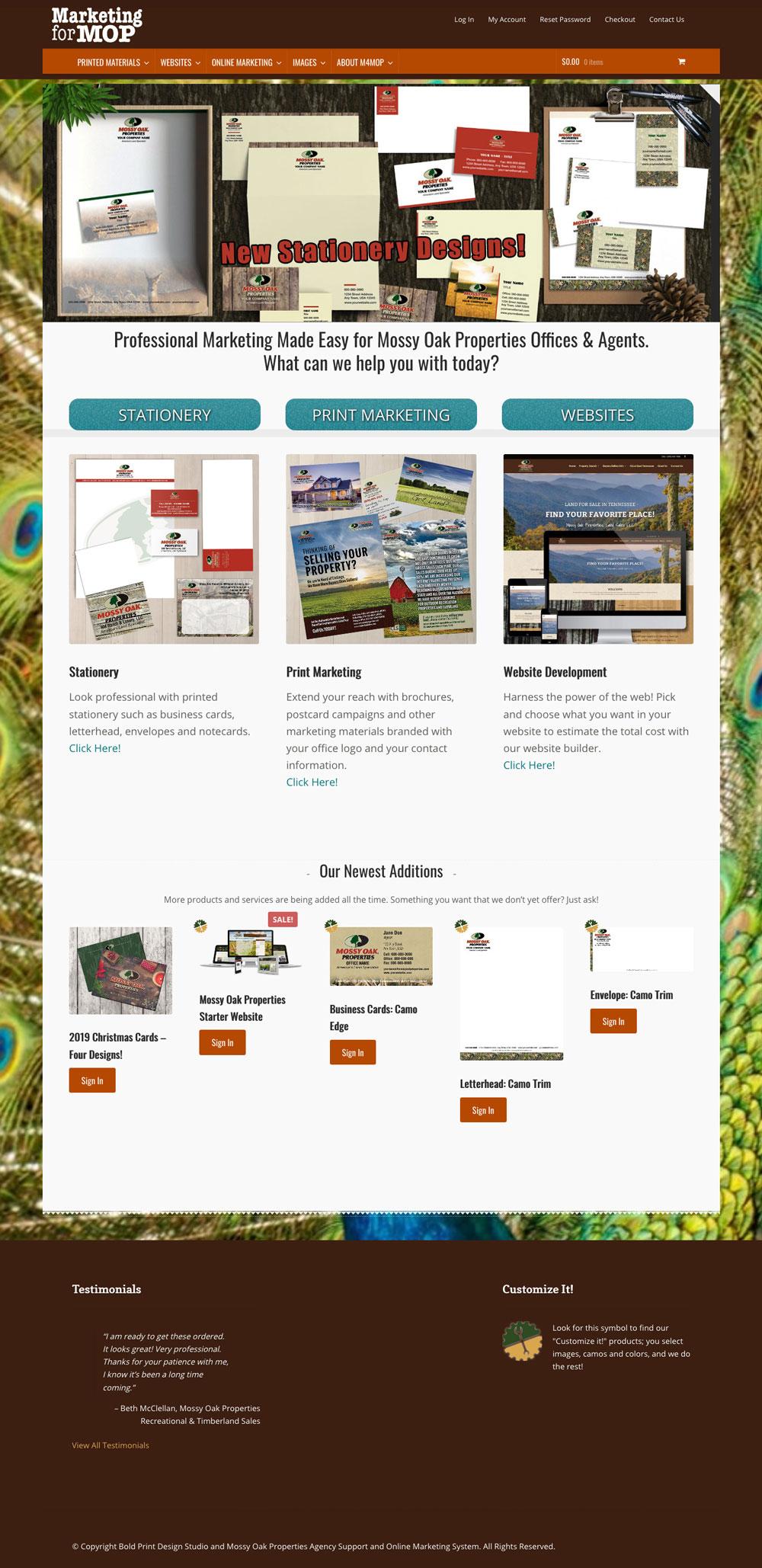 Marketing for MOP Website