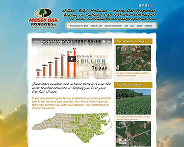 Mossy Oak Properties Agent Billy McOwen Real Estate Website