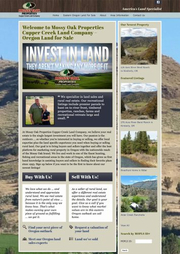 Mossy Oak Properties Cupper Creek Land Company Real Estate Website