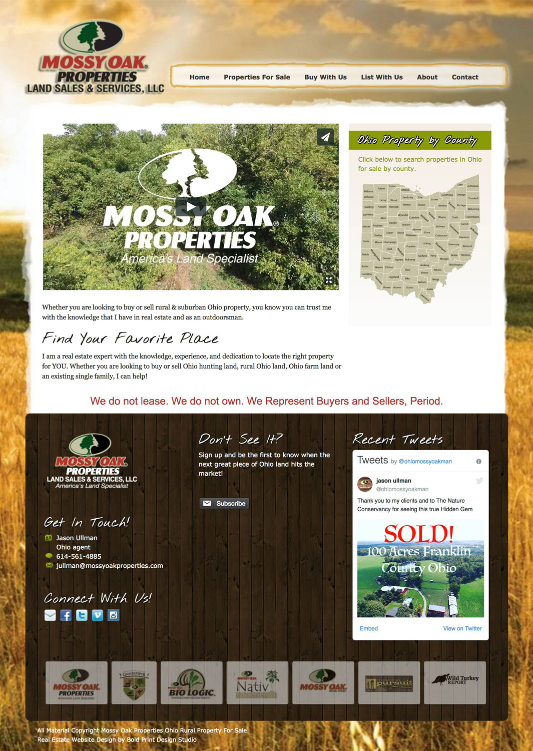 Mossy Oak Properties Ohio Land Agent Jason Website