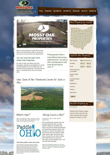 Mossy Oak Properties Ohio Land Sales and Services LLC Real Estate Website