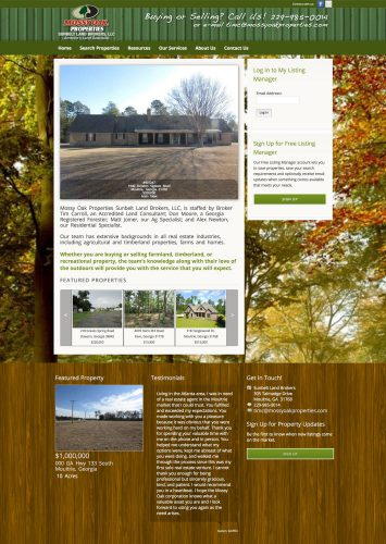 Mossy Oak Properties Sunbelt Land Brokers MLS Real Estate Website