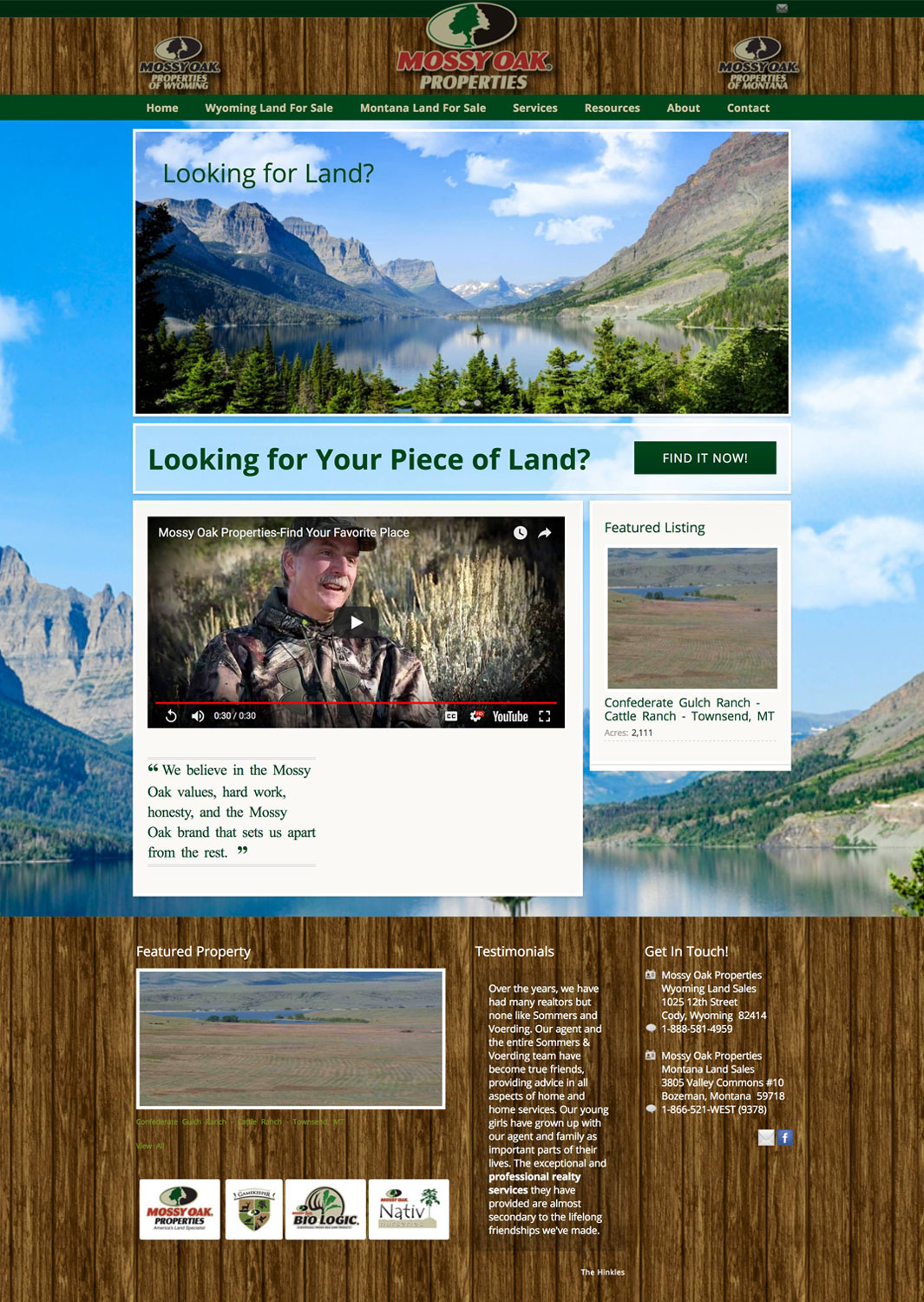 Mossy Oak Properties Wyoming Land Sales Real Estate Website