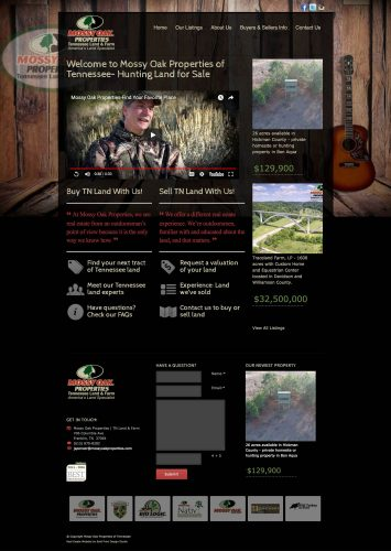 Mossy Oak Properties of Tennessee Real Estate Website