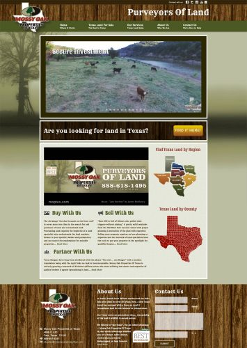 Mossy Oak Properties of Texas Real Estate Website