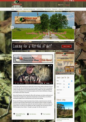 Mossy Oak Properties of the Heartland Real Estate Website