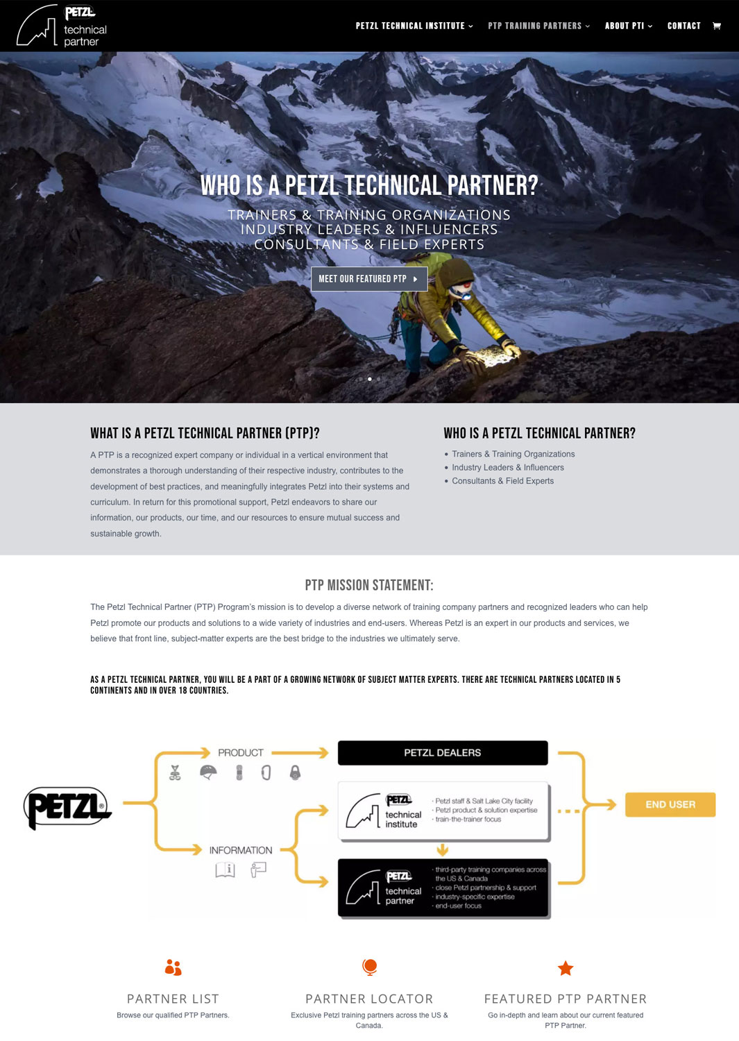 Petzl Technical Institute Website
