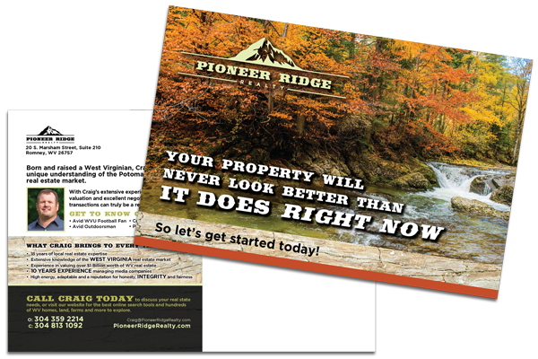 Pioneer Ridge Realty Postcard