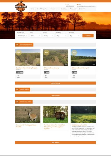 ProCore Outdoors, LLC Real Estate Website