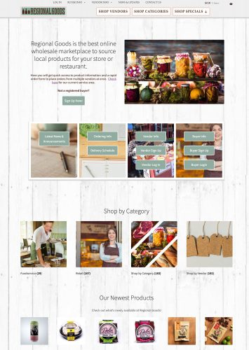 Regional Goods Ecommerce website