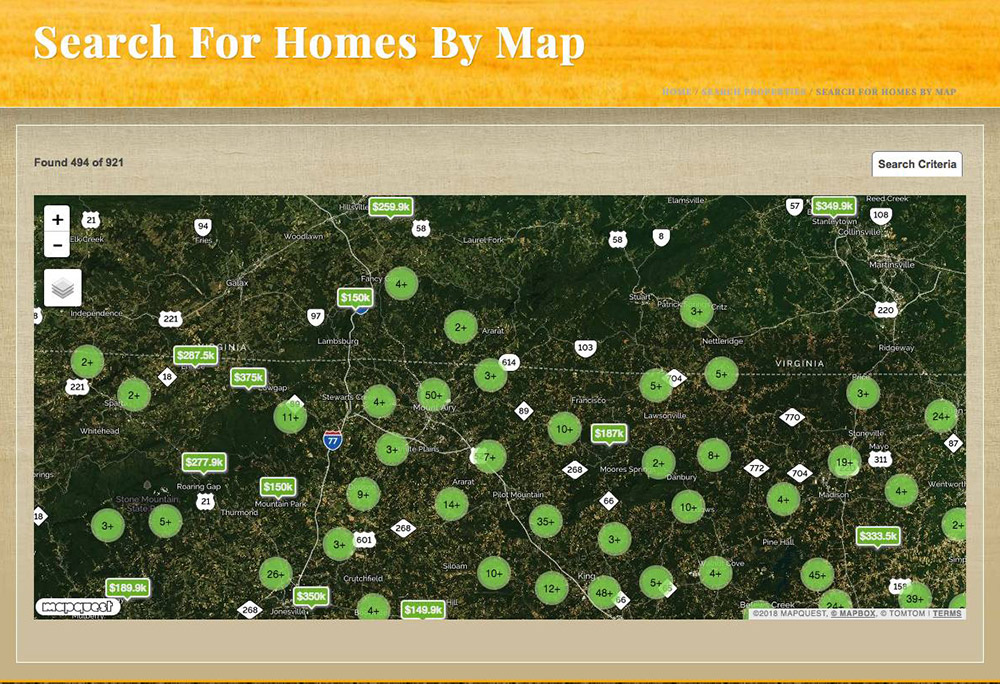 Carolina Farms & Homes MLS Real Estate Website | Bold Print ... on home map design, home new construction, home employment search, home map plan, home finder by map, home plan search,