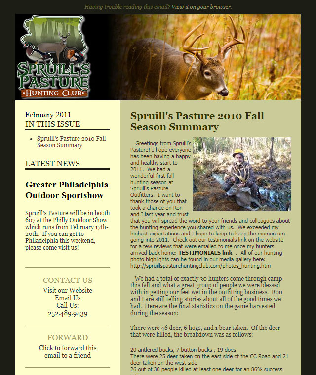 Spruill Bros Email Newsletter