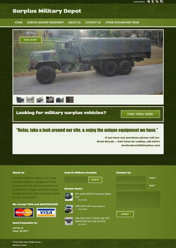 Surplus Military Depot Website