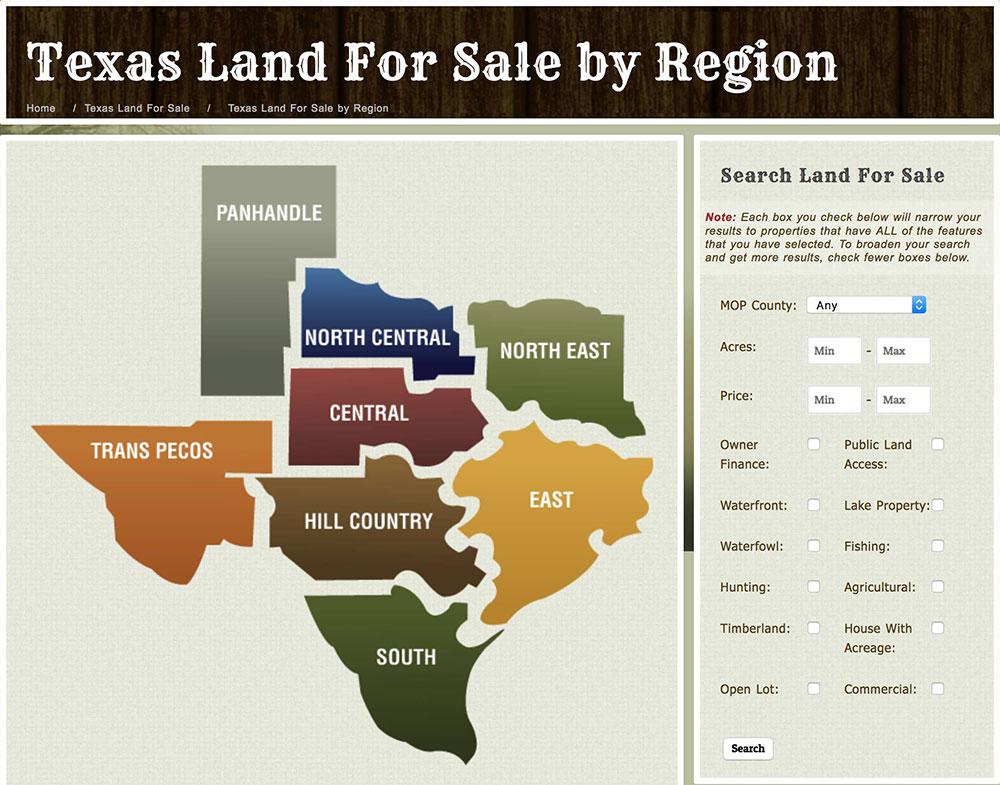 Mossy Oak Properties of Texas Real Estate Website | Bold