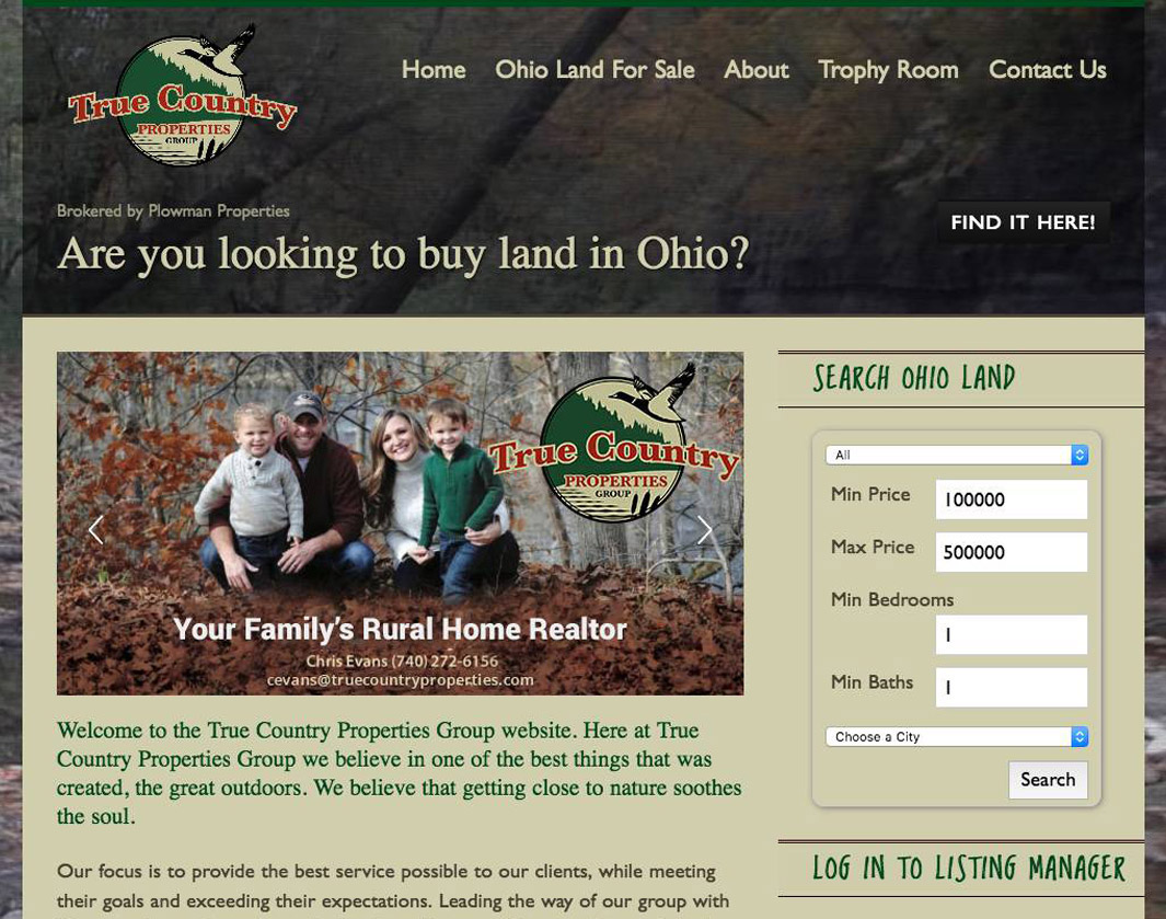 True Country Properties Group MLS Real Estate Website