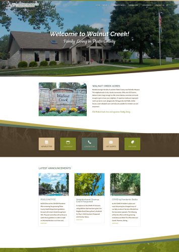 Walnut Creek South Homes Association Website