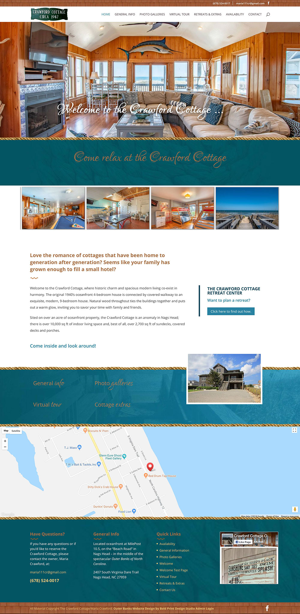 The Crawford Cottage Website