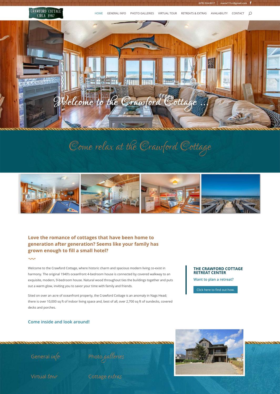 Crawford Cottage Website
