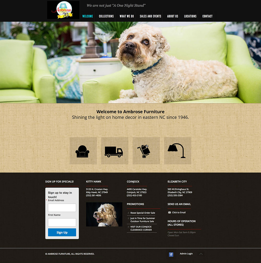 Ambrose Furniture Homepage