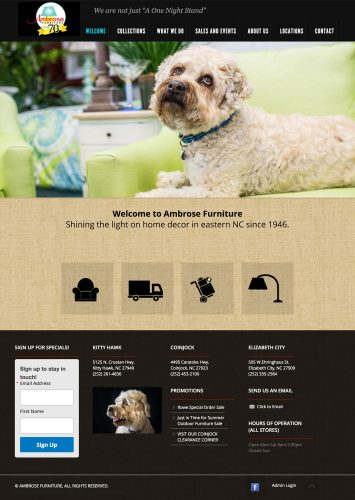 Ambrose Furniture Website
