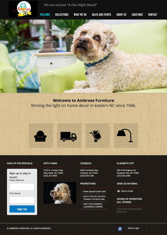 Ambrose Furniture Website
