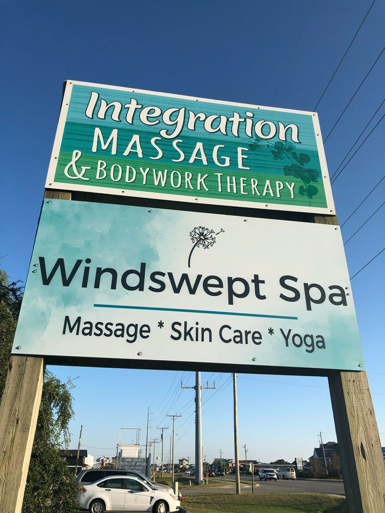 Windswept Wellness Street Sign