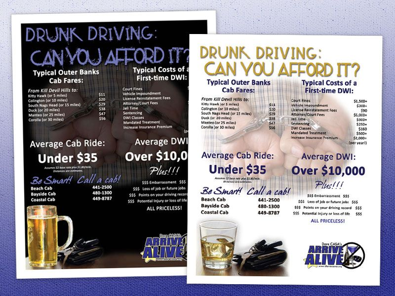 Dare CASA Arrive Alive Poster and Flyer